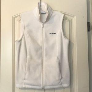 Ivory Columbia Fleece Vest Size Medium